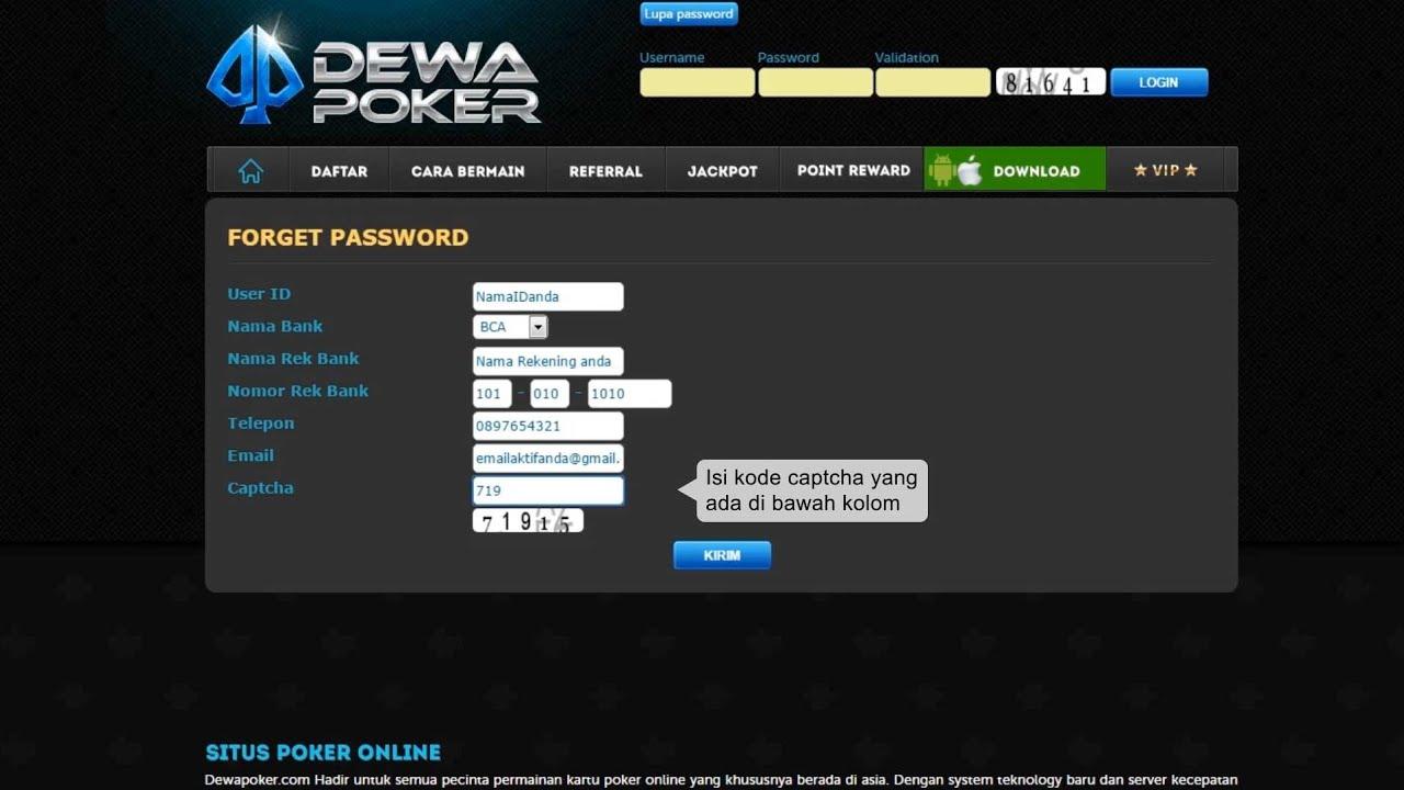Lupa Password Akun Dewapoker Inilah Caranya Dijamin Akun Anda kembali